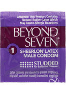 Beyond Seven Condom Studded Lightly Lubricated Blue Tinted...