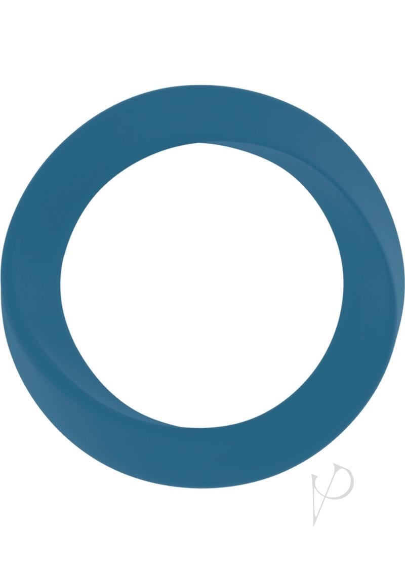 Mjuze Infinity Silicone Cock Ring Waterproof Blue Thin Medium